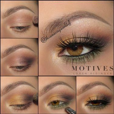 Amber Eyes | Motives Cosmetics #eyeshadow for amber colored eyes
