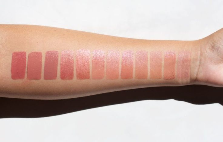 Best Organic Nude Lipsticks ||    From Left to Right:    Nudus 27 Kisses, Red Ap...
