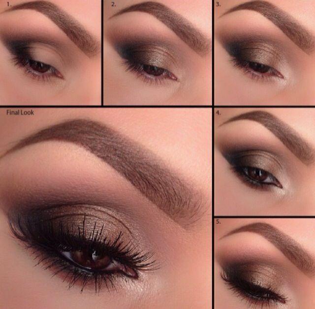 Brown & black smokey eye!
