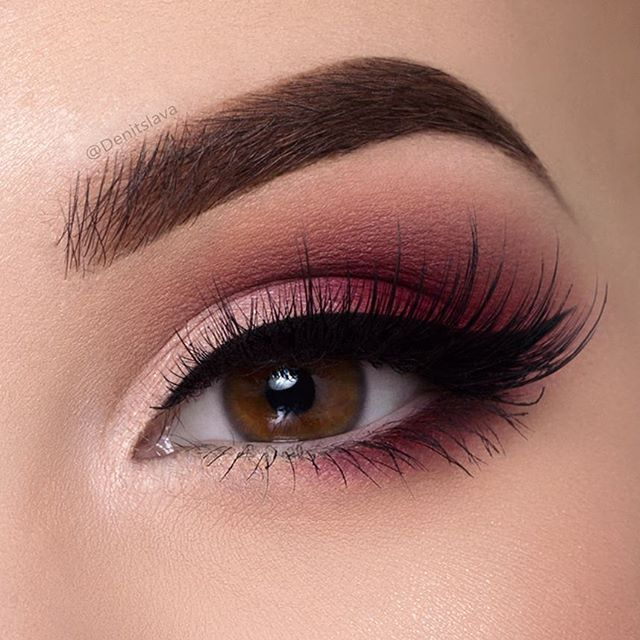 Burgundy smokey eye  Tutorial on it is on my YouTube channel  Hit the link in my...