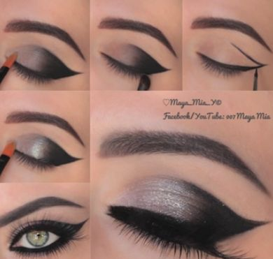 Cat Eye Makeup Tutorial: karasglamourblog....