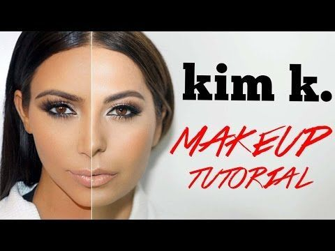 Contouring & Highlighting- Kim Kardashian's Makeup secret! - YouTube