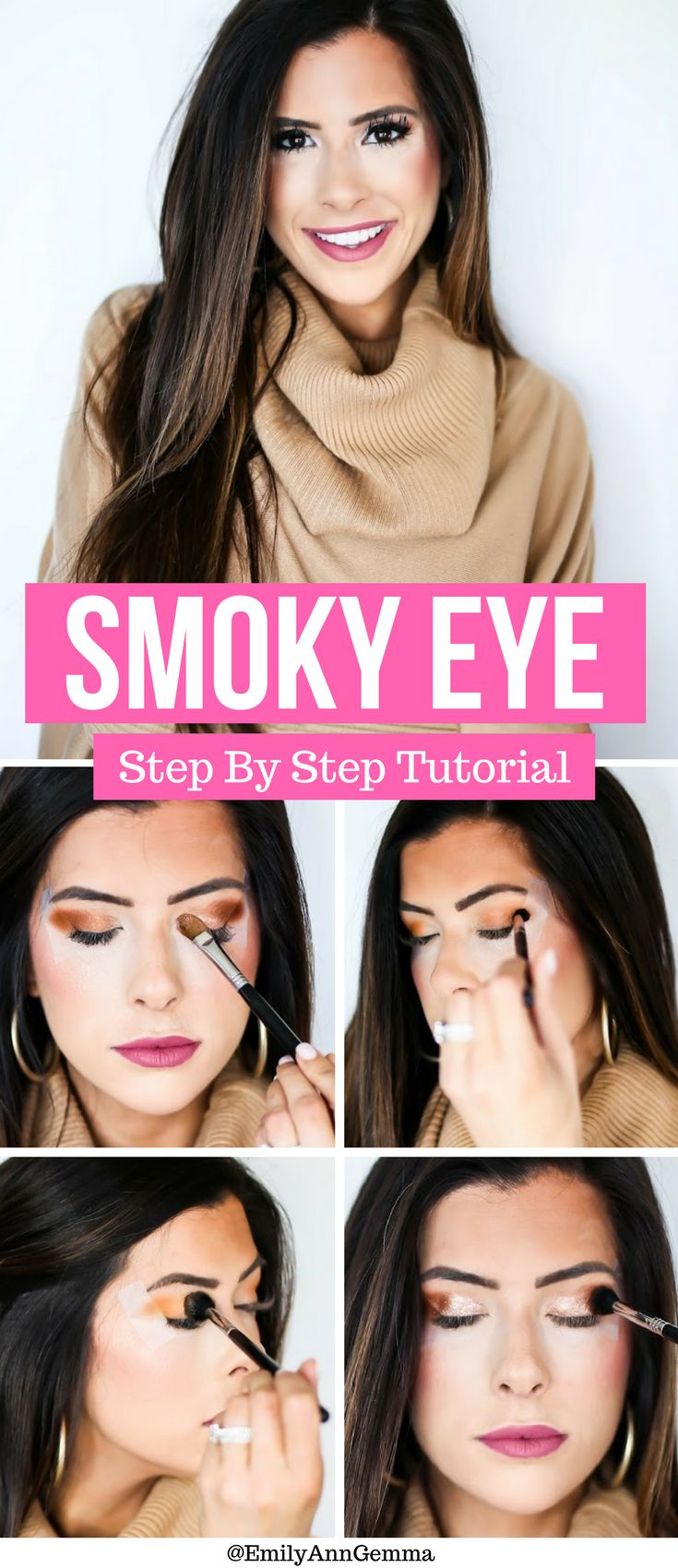 Easy to Follow Step by Step Tutorial. Smoky eye tutorial, makeup tutorial, how t...