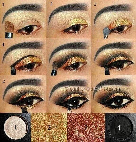 Egyptian style eye make-up                                                      ...