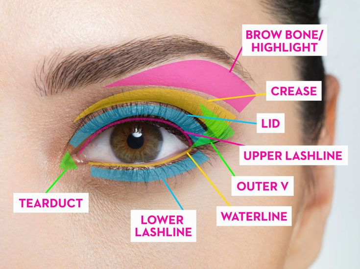 Eye Makeup Guide for Beginners — A Map for Eyeshadow and Eyeliner