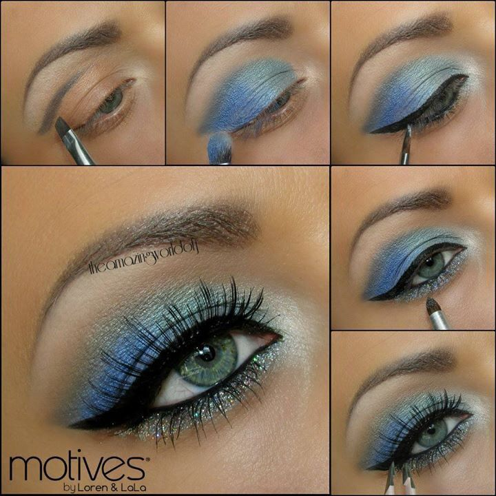 Eye makeup - a bit dark for my taste but I like the idea of these colors and cou...