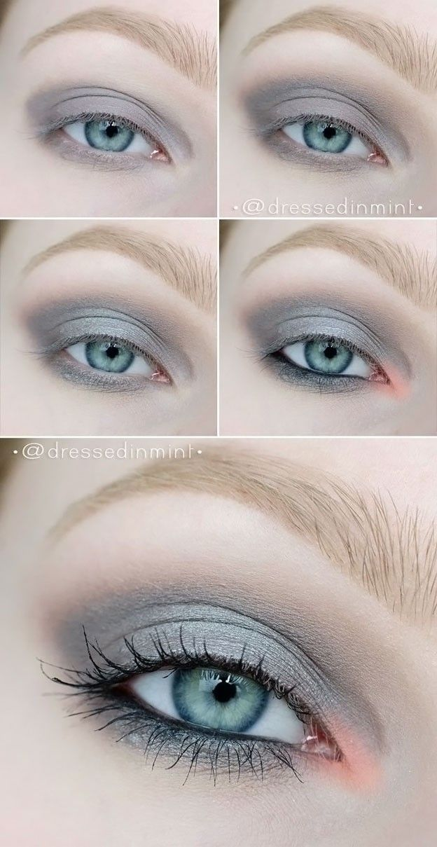 Eye makeup for grey eyes.
