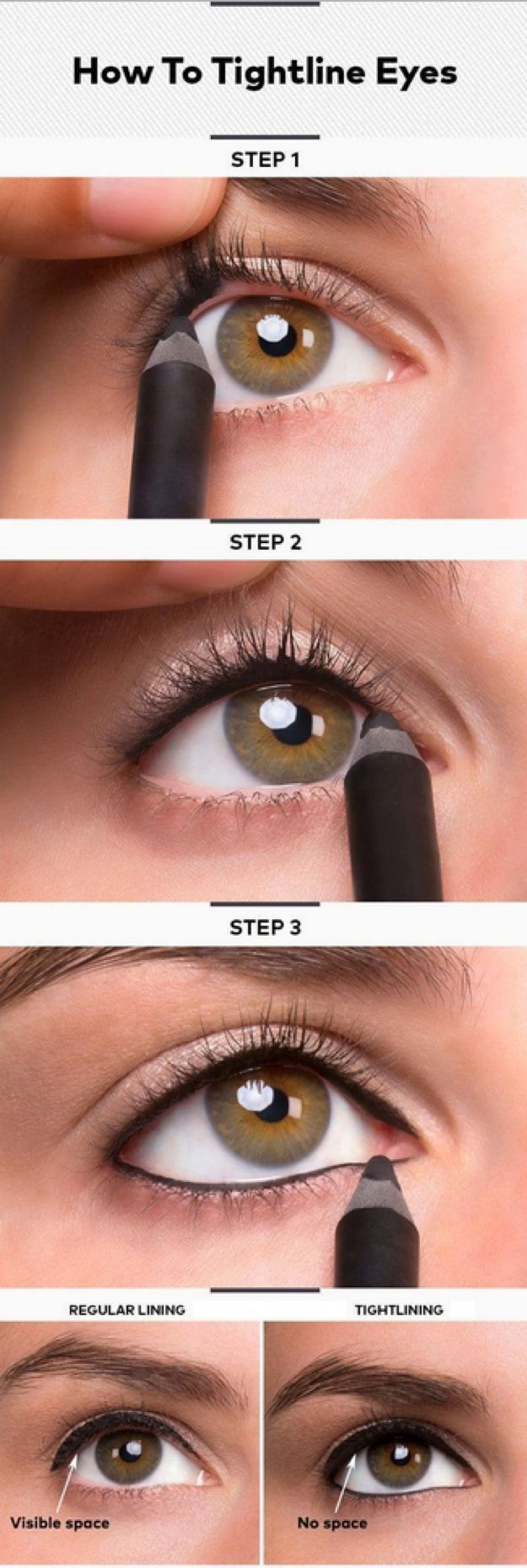 Eyeliner Tips and Tricks for A Perfect Tightline Eyeliner Look by Makeup Tutoria...