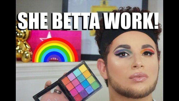 GAY PRIDE MAKEUP TUTORIAL | NYX COSMETICS  LGBT Pride Month Rainbow Makeup Tutor...