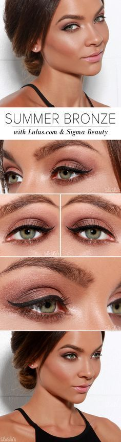 Get the Look: Summer Bronze Makeup with Sigma Beauty! at LuLus.com! #coupon code...