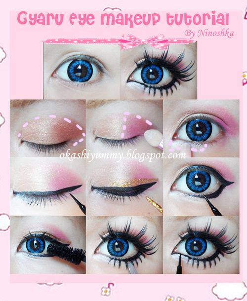 Gyaru Eye Makeup Tutorial