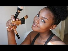 HOW TO: DRUGSTORE Contour,Highlight,+ Foundation for Black Women Makeup Tutorial...
