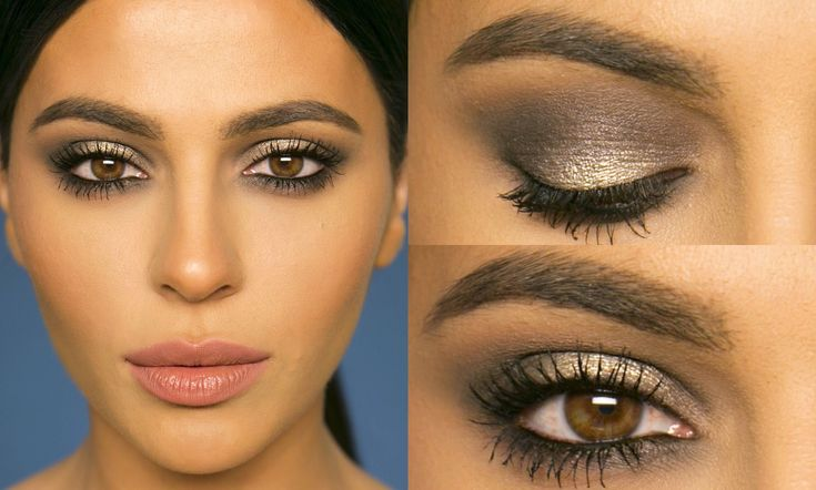Here's a smokey eye makeup tutorial using gray and silver tones for a more s...