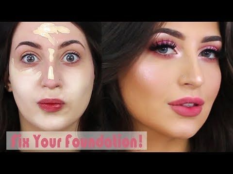 How To: Fix your Fondation in a Minute! + Flawless Skin Makeup Tutorial | Meliss...