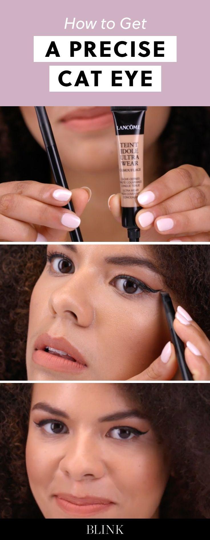 How to Get a Precise Cat Eye. #blinkbeauty #cateye #makeuptutorial #beautytutori...