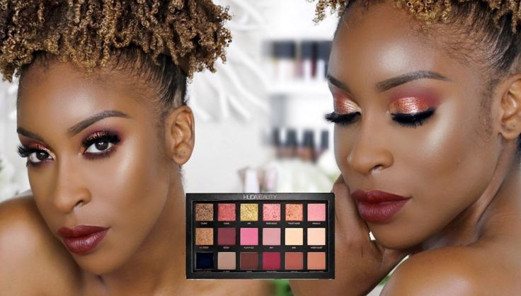 Huda Beauty Rose Gold Palette Makeup Tutorial By Jackie Aina