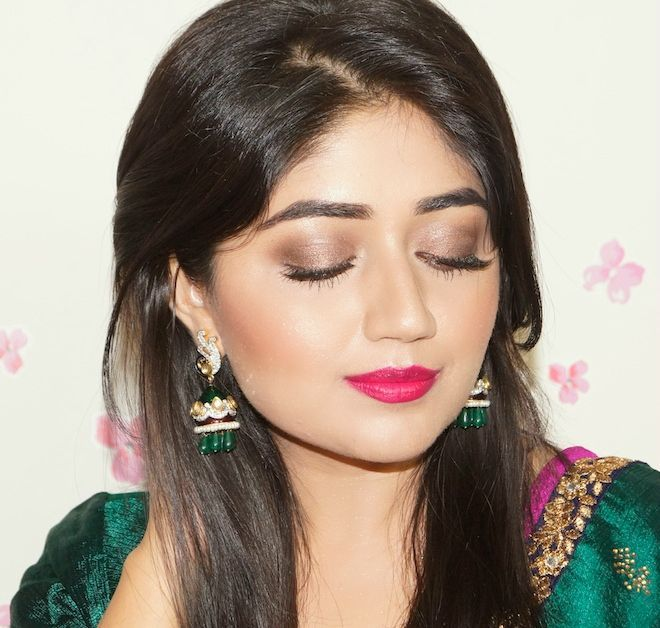 Indian Festive Makeup Tutorial - Bright Fuchsia Lips