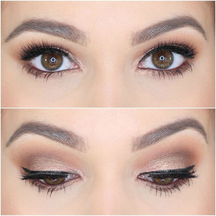 Jaclyn Hill Morphe Palette Looks on Brown Eyes Natural Glam Brown Smokey Eye