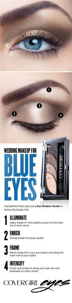 Light, neutral tones best complement blue eyes. Follow this easy step-by-step ma...