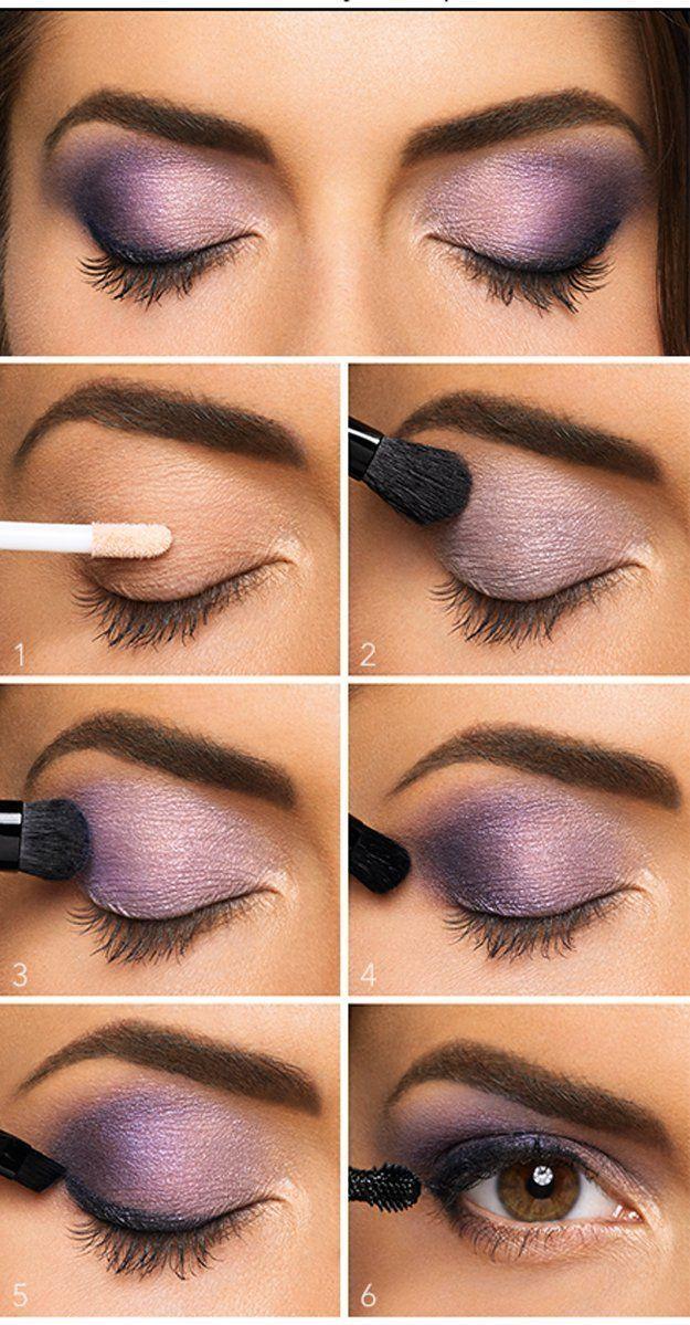 Lovely Purple Eyeshadow Tutorial For Beginners   12 Colorful Eyeshadow Tutorials...