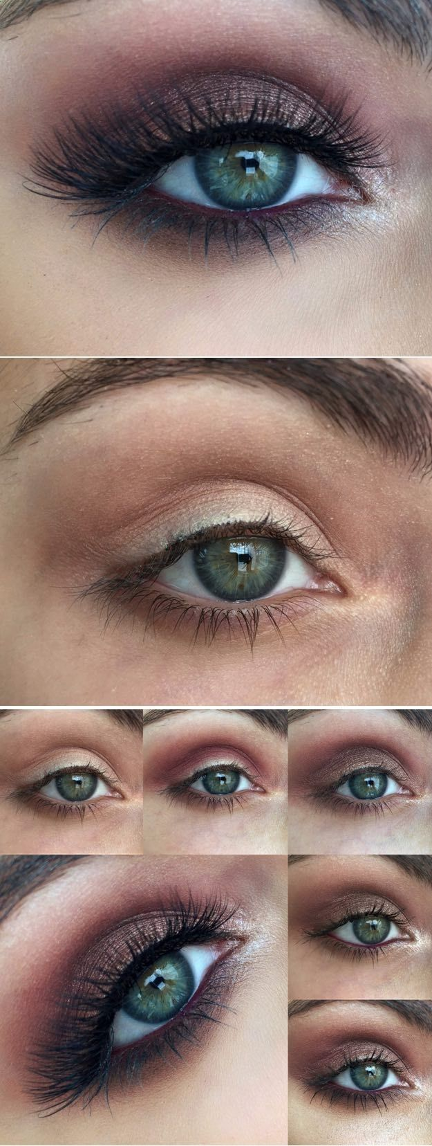 Makeup Tutorials for Blue Eyes -Vampy Tutorial For Blue Eyes -Easy Step By Step ...