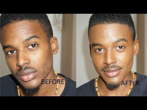 Natural Men's Makeup Tutorial 5 products - Maquillage homme naturel - YouTub...