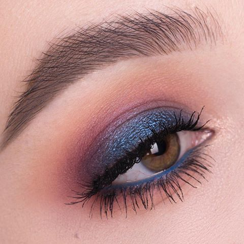 Perfect Beautiful Blue eye makeup not to Much