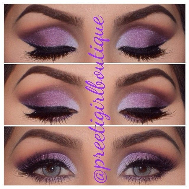 Purple makeup for blue eyes. Di says: Hmm I always wanna try purple but am afrai...