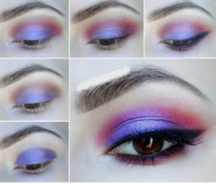 Purple, pink vibrant shimmer eye shadow