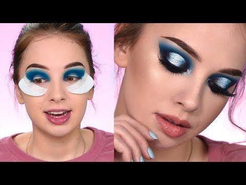 Recreating The Look | Dramatic Blue smokey Eye Makeup Tutorial - YouTube