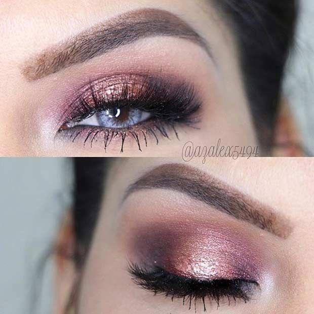 Rose Gold Smokey Eye for Blue Eyes Instagram / azalex5494