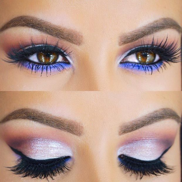 Silver Eyes with Purple Under  Eye Makeup: I like it just without the purple und...