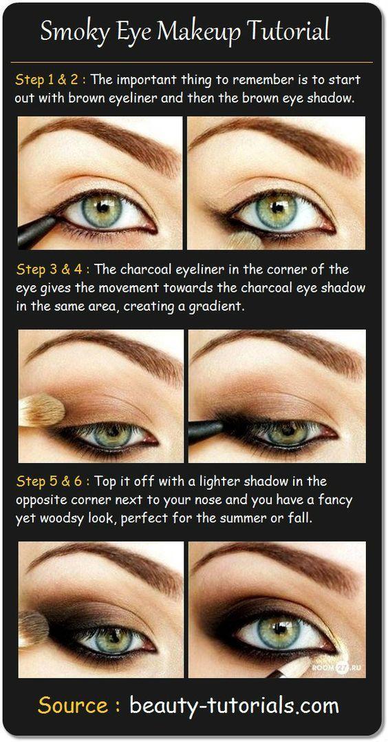 Smokey Eye Makeup for Blue Eyes Step by Step:
