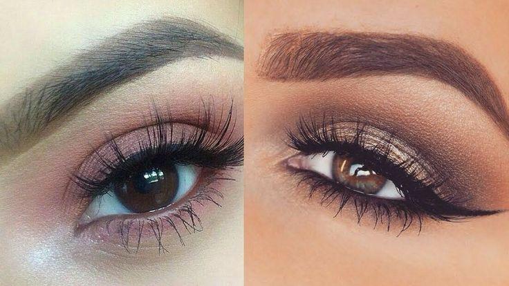 Soft Everyday Eye Makeup Tutorial   Smokey Eyes & Perfect Skin Makeup Tu...