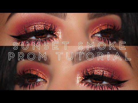 Sunset Smoke    Huda Beauty Rose Gold Palette - YouTube