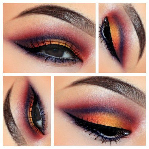 Sunset looking makeup