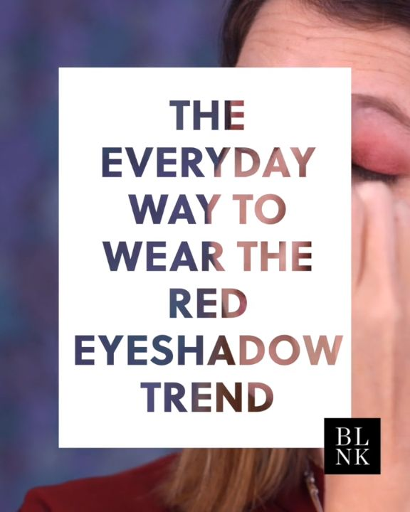 The Everyday Way to Wear the Red Eyeshadow Trend #blinkbeauty #makuptutorial #be...