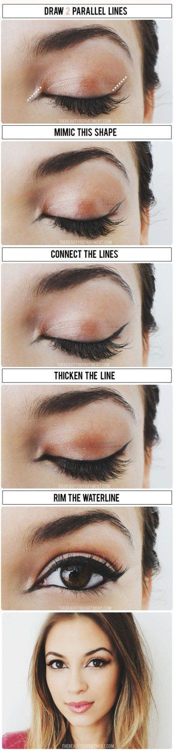 Tired of the same ol' cat eye? These eyeliner tutorials will teach you how t...