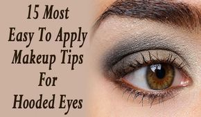 Try these effective makeup tips for hooded eyes: Tip 1: wear eye makeup with ope...