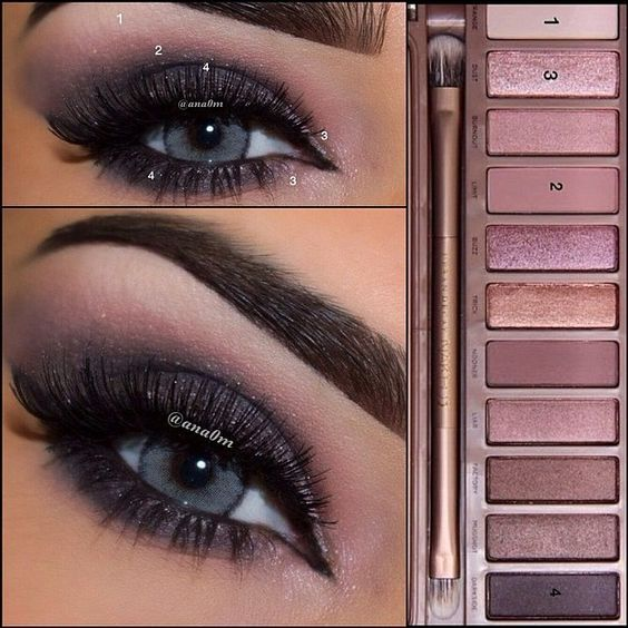 Urban decay naked3 palette I know the pic is blue eyed but this would look great...