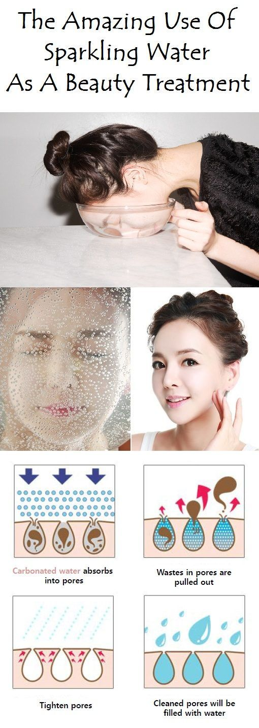 Washing your face with sparkling water (carbonated water) can help you get a cle...