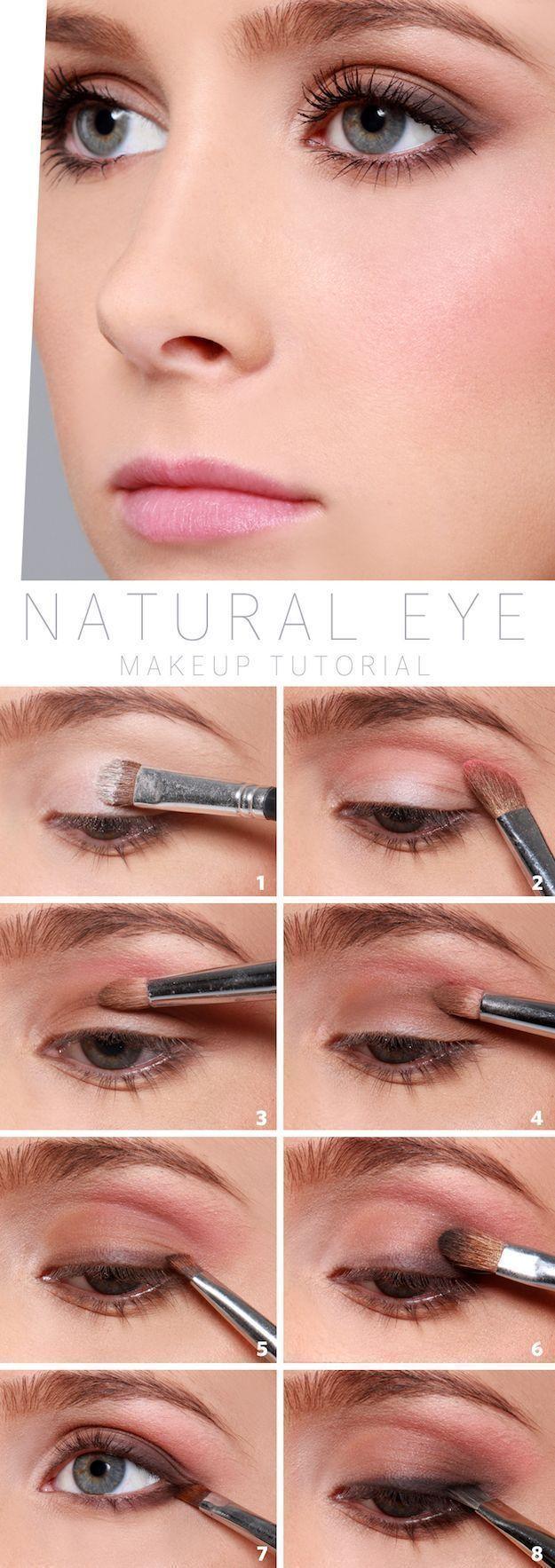 Wedding Makeup Ideas for Brides - Natural Eye Makeup Tutorial - Romantic make up...