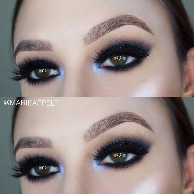 Makeup Ideas 2017 2018 Black Glitter Smokey Eye Makeup Tutorial