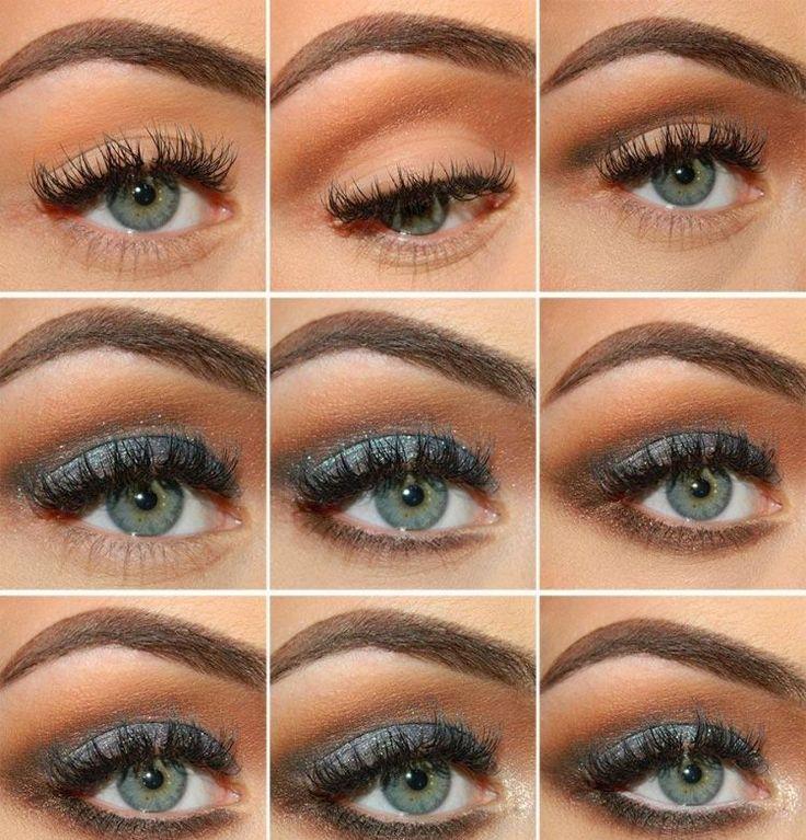spezielles Make-up für Party Abend in Grau und Braun