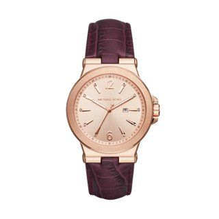 Michael Kors Dylan Rose Gold-Tone Burgundy Women's Watch *** You can find mo...