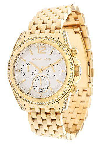 Michael Kors MidSize Golden Pressley Chronograph Glitz Womens watch MK5835 ** Vi...