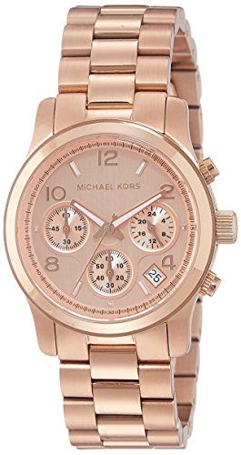 Michael Kors Women's Runway Rose Gold-Tone Watch MK5128 -- For more informat...