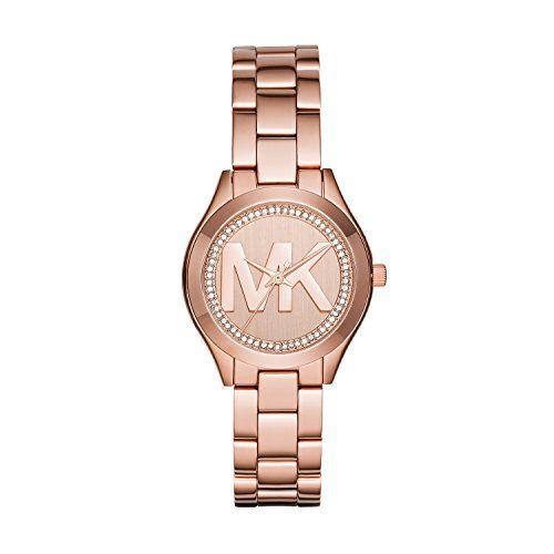 Michael Kors Womens Mini Slim Runway Logo GoldTone Watch MK3549 *** Visit the im...