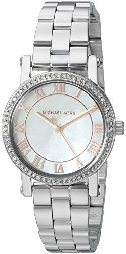 Michael Kors Womens Norie SilverTone Watch MK3557 * Visit the image link more de...