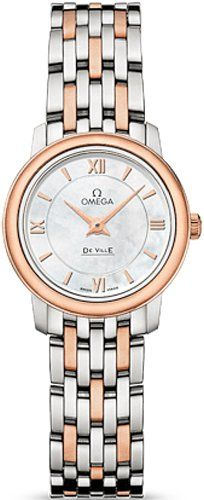 Omega DeVille Mother of Pearl Dial Rose Gold-tone Ladies Watch 42420246005002 **...